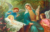 Our Lady with Little Baby Jesus and Angels