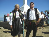 Locals in traditional dresses